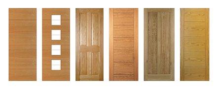 Oak Contemporary Fire Doors FD30 44mm (Pre Finished)