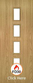 Oak Galway - FD30 - Unglazed - Unfinished - DE