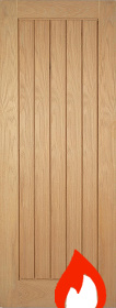 Oak Mexicano Fire Door  - Pre Finished - FD30 -  LP