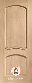 Oak Louis with Raised Mouldings - FD30 - Unfinished - XL
