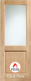 Oak Clear Glazed Firedoor - FD30 - 44mm ...