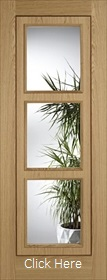 Oak Inlay with Clear Glass - Solid Core - Pre Finished - LPD