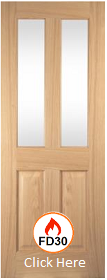 Oak Oregon Two Light - Clear Glass - Unfinished - 44mm - JW