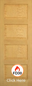 Oak Pattern 50 - Mersey Raised and Fielded Panels- Unfinished- FD30 - DG