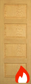 Oak Patt 50 - Mersey Raised and Fielded Panels- Unfinished- FD30 - DG