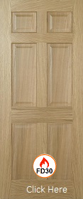 Oak Regency 6P - FD30 - 44mm - Solid Core - Pre Finished - LPD