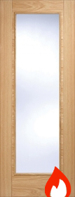 Oak Vancouver Pattern 10 with Clear Glass - FD30 - Pre Finished - LP