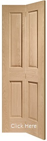 Oak Victorian 4 Panel Bifold - Unfinished - XL