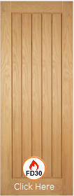 Oak Mexicano Door - FD30 - 44mm - Unfinished Oak - LP