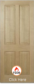 Oak Regency 4P - FD30 - Solid Core - Pre Finished - LPD