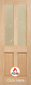 Oak 4P with Clear Flat Fire Glass - Unfi...