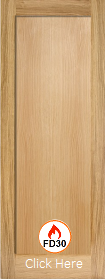 Oak Pattern 10 One Panel - FD30 - Solid Core - Unfinished  - LPD