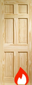 Clear Pine Colonial 6 Panel - FD30 - 44m...