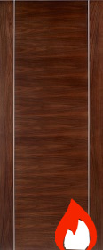 Walnut Alcaraz Fire Door - Pre Finished - FD30 - 44mm - LP