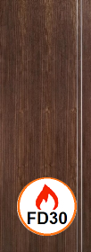 Walnut Sierra Door - Pre Finished - 44mm - FD30 - LP