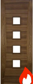 Walnut Pamplona - Unglazed - FD30 - 44mm - Pre Finished - DE