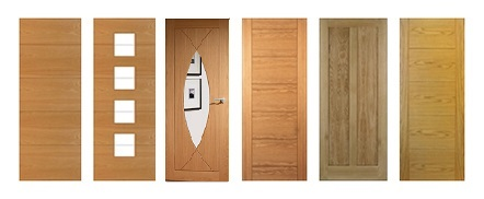 Oak Contemporary Fire Doors FD30 44mm Unfinished