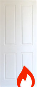 White 4 Panel -  Primed - Smooth Finish - FD30 35mm - JW