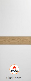 White Asti with Horizontal Rustic Oak St...