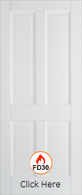 White Primed Canterbury FD30 - 44mm - Solid Core - Smooth Finish - LPD