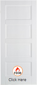 White Primed Contemporary  - FD30 - 44mm - Solid Core - LP