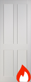 White Primed Eton - Smooth Finish - FD30 - 44mm - DE