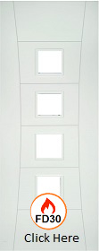 White Primed Pamplona - Unglazed - FD30 - 44mm - DE
