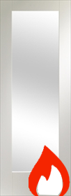 White Primed Pattern 10 - Clear Glass - FD30 - 44mm -  X