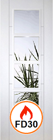 White Primed Trend 4L Clear Fire Glass - 44mm - FD30 - DF