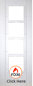 White Primed Trend 4L - Unglazed - FD30 - 44mm - DF