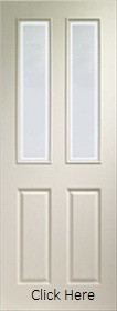 White Primed Victorian with Forbes Glass - Woodgrain - XL