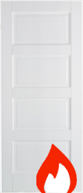 White Primed Contemporary 4P - FD30 - 44mm - LP