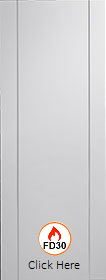 White Forli Firedoor with Aluminium Inlay  - FD30 - 44mm - Pre Finished - XL