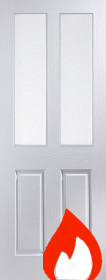 White Primed 2P - Smooth Finish with Clear Glass - FD30- JW