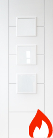 White Primed Trend 3 Light with Clear Flat Glass - FD30 - DF