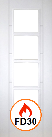 White Primed Trend 4L - Unglazed - FD30 - DF
