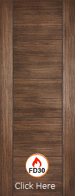 Laminate Walnut Vancouver- FD30 -  44mm -  Solid Core - Prefinished - LPD