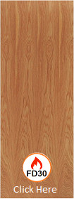 Hardwood Unlipped Timber Door Blank - FD30 - 44mm - LPD