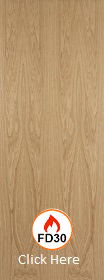 White Oak - Veneer Flush Fire Door - FD30 - 44mm - Unframed - JW