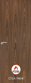 Walnut Vertical - FD30 - 44mm - Solid Core - Finished - P