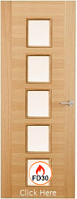 Oak Two Stile 10G with Clear Glass - FD3...