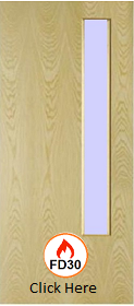 Ash - Real Wood Veneer with Clear GC06 Glass - FD30 - 44mm - JW