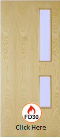 Ash  - Real Wood Veneer with Clear 05 Glass - FD30 - 44mm  - JW