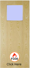 Ash  - Real Wood Veneer with Clear 01 Glass - FD30 - 44mm  - JW