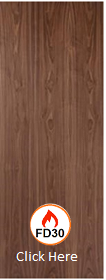 Walnut - Real Wood Veneer Flush - FD30 - 44mm -  JW
