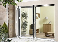 External 10ft ALUVU Folding Doors in Whi...