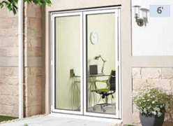 External 6ft ALUVU Folding Doors in Whit...