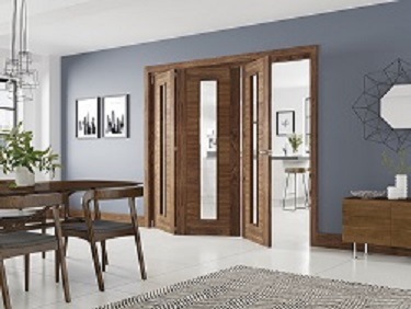 Walnut Folding Door System