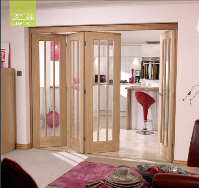 Oak roomfold sliding door internal doors doors galore for Internal folding doors systems