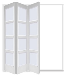 White 3 Leaf Bardsley with 4 Solid Panel...